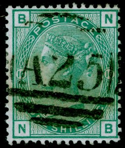 SG150, 1s green plate 10, FINE USED. Cat £45+. A25 MALTA. NB