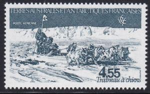 French Southern Antarctic Territory # C76, Dog Sled Team, NH, 1/2 Cat.