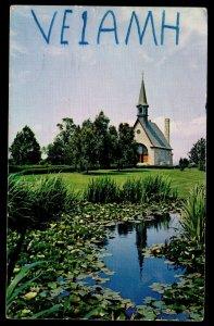 QSL QSO RADIO CARD VE1AMH,George E. Harrington, Nova Scotia,Canada (Q3548)