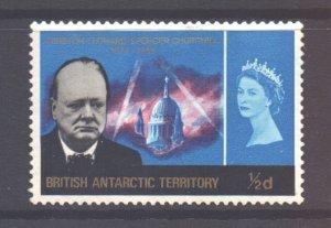 British Antarctic Territory BAT Scott 16 - SG16, 1966 Churchill 1/2d MH*