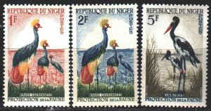 Niger. 1959. 1-3 of a series. Birds, fauna. MNH.