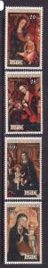 Niue-Sc#258-61-unused NH set-Christmas-Paintings-1979-