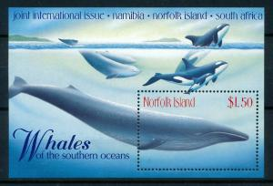 [99433] Norfolk Isl. 1998 Marine Life Whales Joint S-Africa Namibia Sheet MNH
