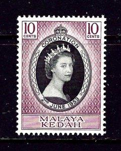 Malaya-Kedah 82 MH 1953 QEII Coronation