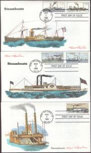 #2405-09 Steamboats Rawlins FDC Set