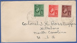 VIRGIN ISLANDS  Scarce 1940 WWII Censored Cover, Road Town to USA