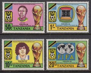Tanzania 197-200 Soccer mnh