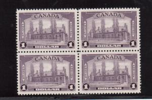 Canada #249i Very Fine Never Hinged Block On Analine Violet Paper