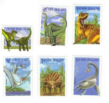 New Zealand #1180-85 dinosaurs MNH