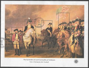 US # 1686-1689 Used Souvenir Sheets ~ FDC Cancels ~