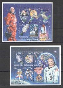 QD0758 DJIBOUTI SPACE EXPLORATION JOHN GLENN NEIL ARMSTRONG NASA 2KB MNH