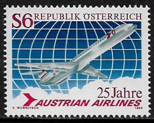 Austria #1236 MNH Stamp - Austrian Airlines - 40% Cat.