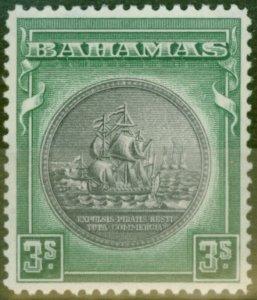 Bahamas 1931 3s Slate-Purple & Myrtle-Green SG132 V.F Lightly Mtd Mint