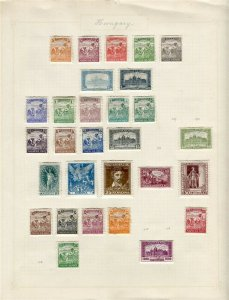 HUNGARY; Early 1900s-20s issues useful mint and used range on album page