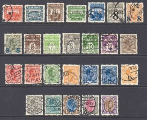 DENMARK 1920s COLLECTION LOT VF SOUND $100 SCV SELECT CANCELS