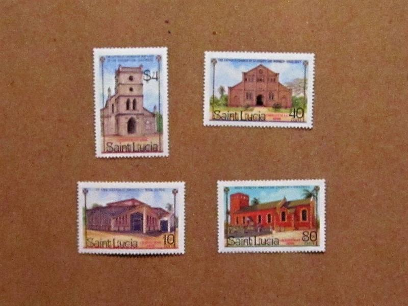 St. Lucia - 867-70, MNH Set. Christmas. SCV - $1.80