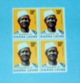 Sierra Leone - 429, MNH Block of 4. Pres. Siaka. SCV - $1.20