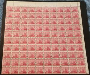 MALACK 736 3c Maryland, F/VF OG NH, Full SHEET of 10..MORE.. w9764