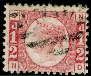 SG48, ½d rose-red PLATE 20, FINE USED. Cat £75. ND