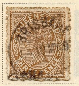 Queensland 1890 Early Issue Fine Used 3d. 326836