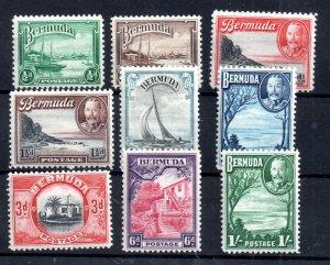 Bermuda 1936 KGV Definitive LHM set to 1/- WS17367