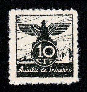 SPAIN CIVIL WAR 1939 AUXILIO DE INVIERNO 10CTS MNH-OG