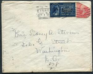 US Postal History - 1898 Rochester NY to Washington DC - Special Delivery