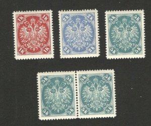 BOSNIA-AUSTRIA - 5 MNH OLD STAMPS - 1900/1901.