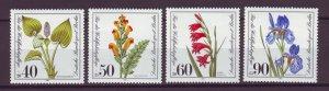 J24970 JLstamps 1981 germany berlin set mnh #9nb182-5 flowers