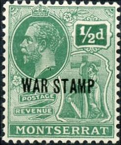 Montserrat #MR2 ½p George V Unused/H