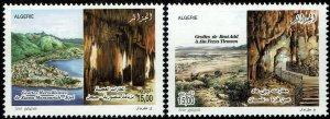 Algeria #1502-03  MNH - Caves (2010)