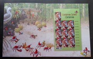 Australia Christmas Island Christmas Crab 2014 Santa Festival (folder set) MNH