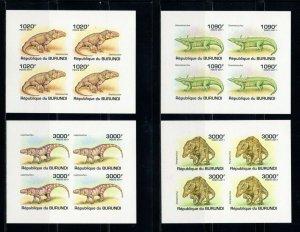 BURUNDI - 2011 Prehistoric Crocodiles   M2498A
