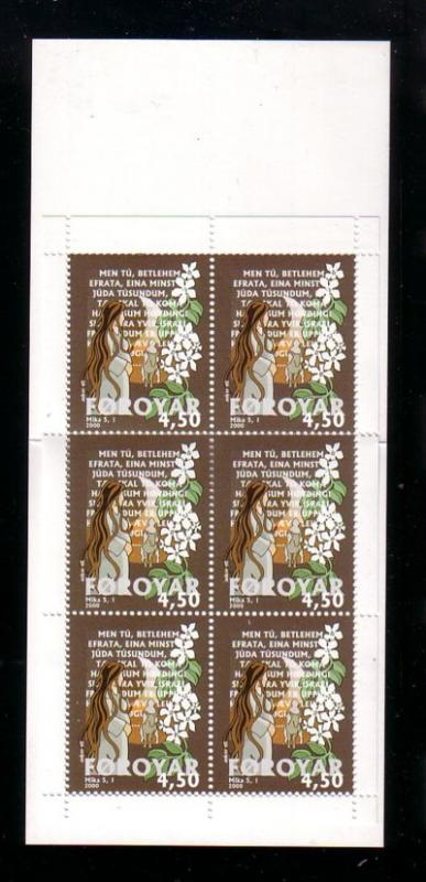 Faore Islands Sc 387a 2000 Bible Verse stamp booklet mint NH