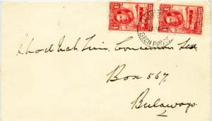 Bechuanaland 1d KGVI Cattle and Baobab Tree (2) 1943 Francistown, Bech. Prote...