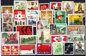 Swiss Military Stamps, Unused, 30 designs (-002)