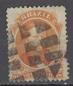 COLLECTION LOT # 1091 BRAZIL #60 1866 CV=$35 FAULTY