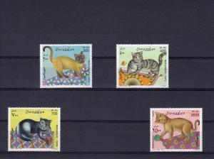 Somalia 1997 Cats  set perf.(4v) MNH VF