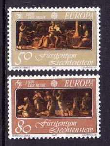 Liechtenstein-Sc#804-5-Unused NH Europa set-1985-