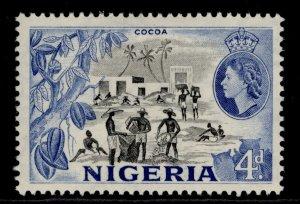 NIGERIA QEII SG74, 4d black & blue, M MINT.