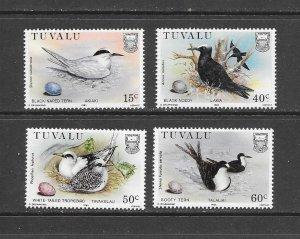 BIRDS -TUVALU #287-90  MNH