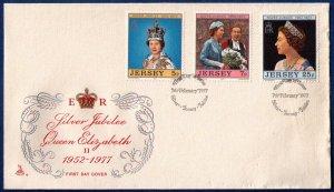 Jersey Sc 168-170 FDC Cover Silver Jubilee Queen Elizabeth II VF (1977):