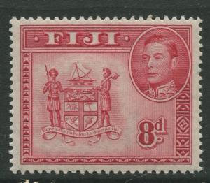 Fiji - Scott 126 - KGVI - Definitive - 1938 - MVLH - Single 8d Stamp
