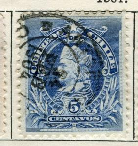 CHILE;    1901 early Columbus issue used 5c. value