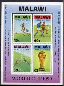 Malawi 1990 Football World Cup - Italy M/S. MNH