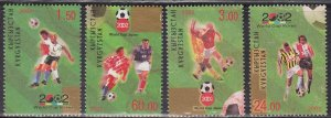 Kyrgyzstan, Sc 184a-b,e-f, MNH, 2002, World Cup, Fault: Ink Mark, (LL01514)