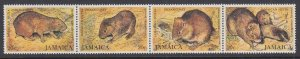 Jamaica MNH Strip 499 Indian Coney Rodent