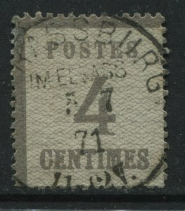 France 1870 Alsace Lorraine German Occupation 4 centimes used