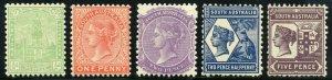 SOUTH AUSTRALIA  SCOTT#144/57 #157 IS NH     MINT HINGED REMNANTS  SCOTT $412+