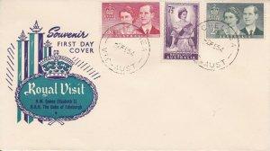 AFD915) Australia 1954 Royal Visit set on three unaddressed Royal FDC's